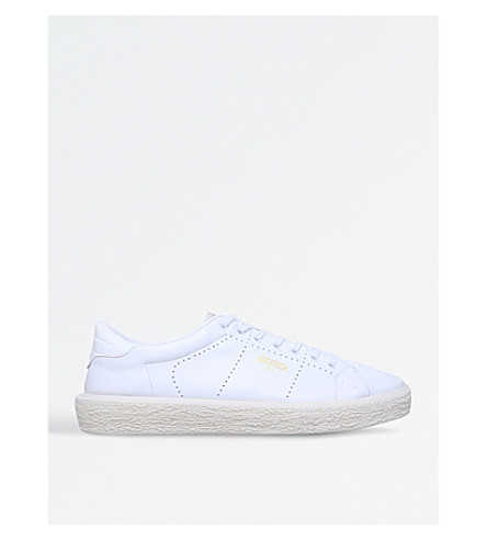 GOLDEN GOOSE Tennis suede trainers (White
