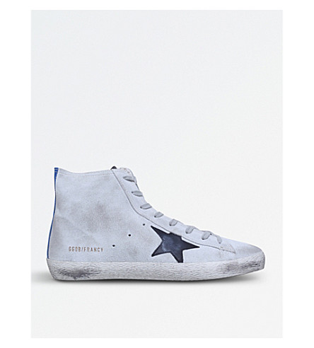 GOLDEN GOOSE Francy suede trainers (Beige