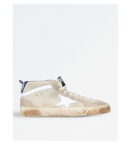 GOLDEN GOOSE Mid Star suede trainers (White