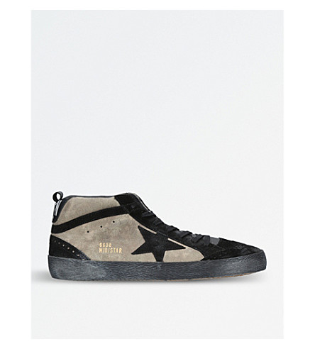 GOLDEN GOOSE Mid Star suede trainers (Khaki