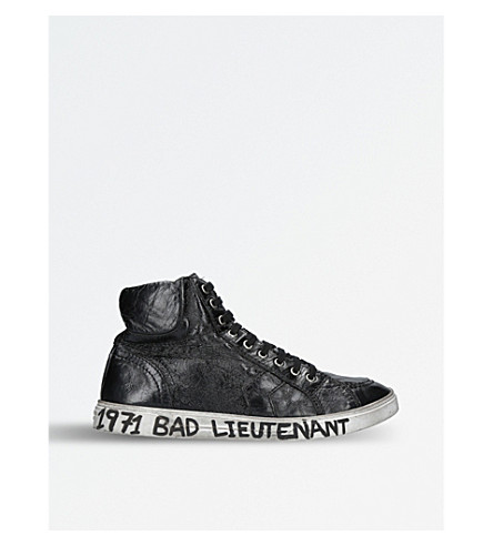 SAINT LAURENT Joe high-top Bad Lieutenant leather trainers (Black