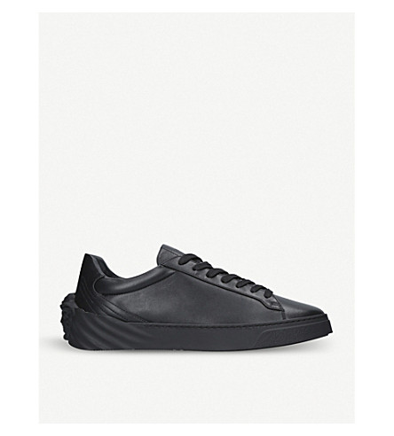 VERSACE Back Medusa leather trainers (Black