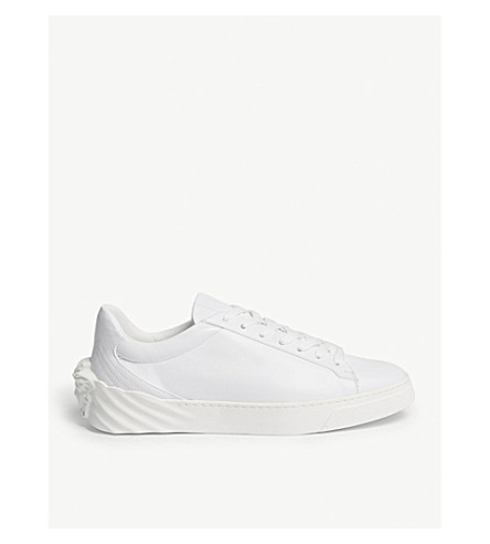 VERSACE Medusa back leather trainers (White