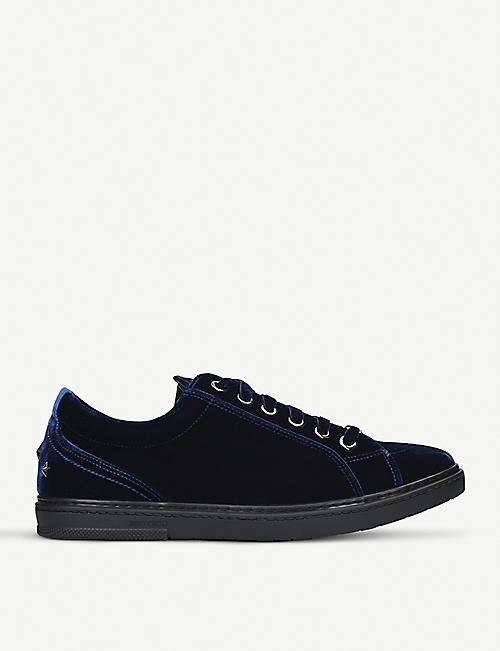 JIMMY CHOO Cash start-studded velvet sneakers