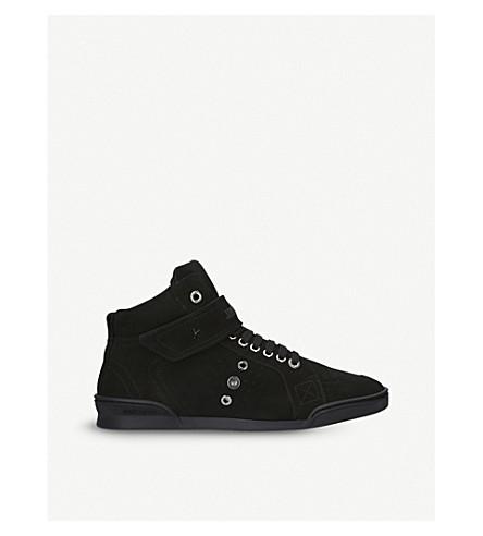 JIMMY CHOO 刘易斯 Lo 麂皮绒高级运动鞋 (黑色
