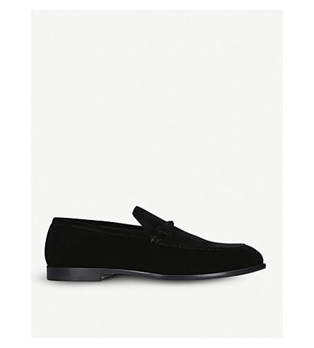 JIMMY CHOO Marti velvet loafers (Black