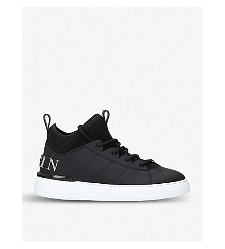PHILIPP PLEIN Cielo high-top leather trainers (Black