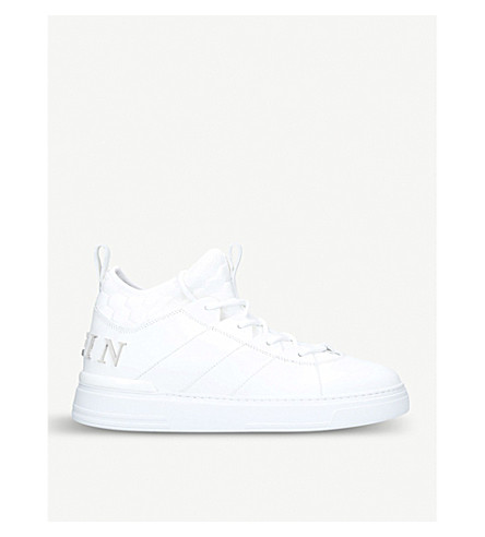 PHILIPP PLEIN Cielo high-top leather trainers (White