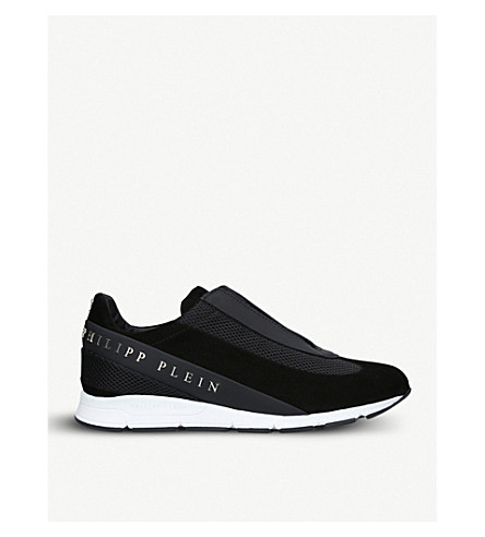 PHILIPP PLEIN The Years suede trainers (Black