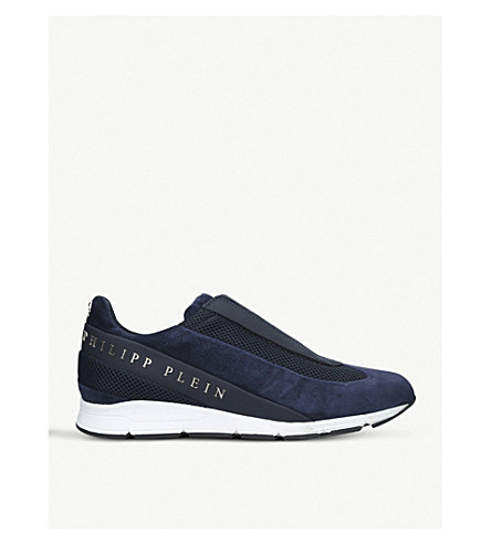 PHILIPP PLEIN The Years suede trainers (Blue