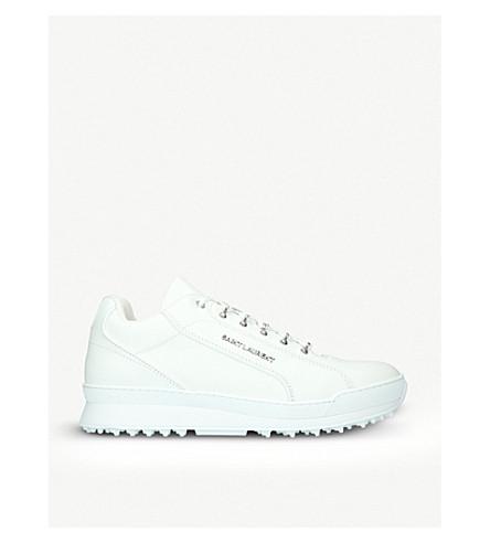 SAINT LAURENT Jump leather trainers (White