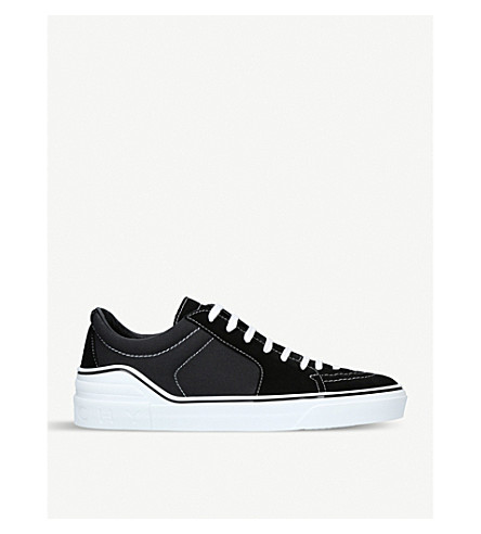 GIVENCHY Goerge V suede trainers (Black
