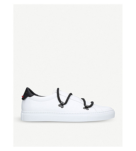 GIVENCHY Hiker Knot leather trainers (White