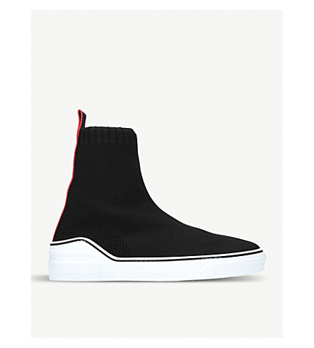 GIVENCHY George V stretch-knit trainers (Black