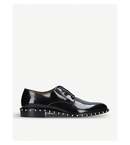 GIVENCHY Studded leather Derby shoes (Black