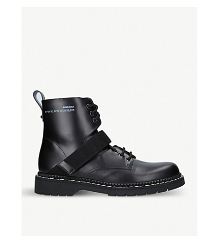 VALENTINO Coordinates leather boots (Blk/white