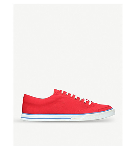 BALENCIAGA Match canvas trainers (Red
