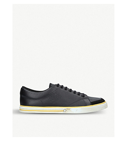 BALENCIAGA Match leather trainers (Black