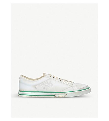 BALENCIAGA Match leather trainers (White