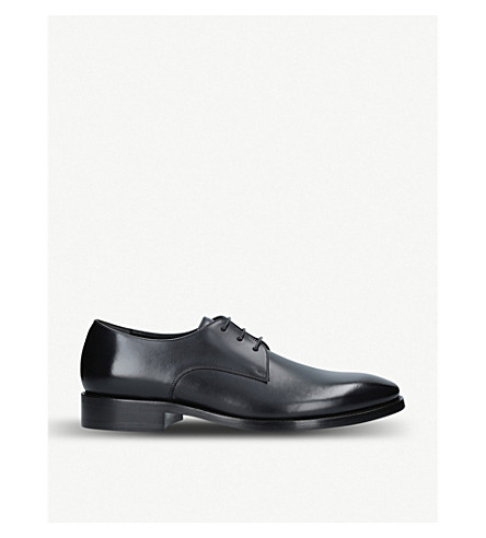 BALENCIAGA City evening leather Derby shoes (Black