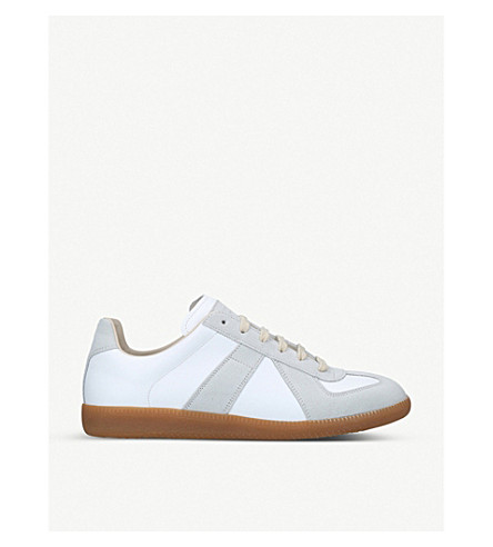 MAISON MARGIELA Replica leather and suede trainers (White