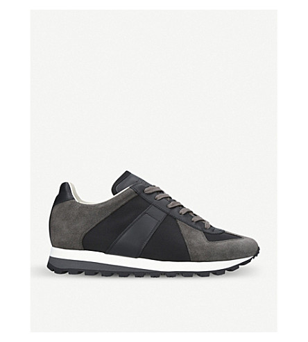 MAISON MARGIELA Runner suede trainers (Black
