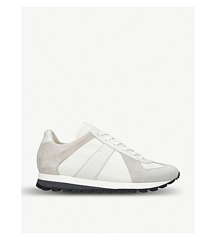 MAISON MARGIELA Runner suede trainers (White