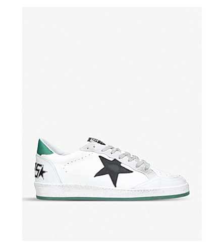 GOLDEN GOOSE Ballstar leather trainers (White/oth