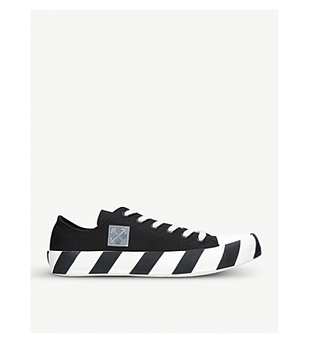 OFF-WHITE C/O VIRGIL ABLOH Striped canvas trainers (Blk/white