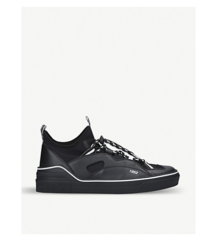 GIVENCHY George V leather and neoprene trainers (Black