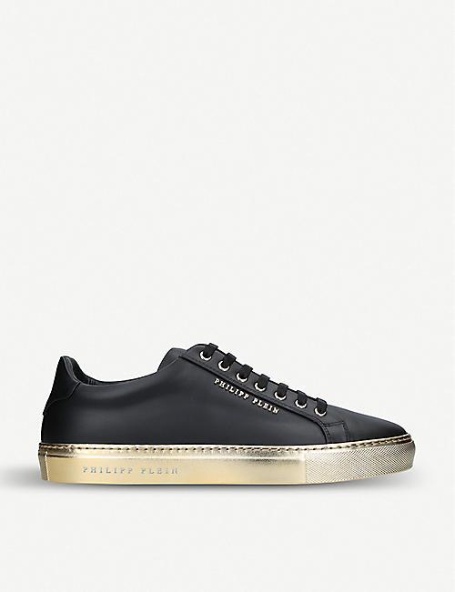 b0852b39c390 PHILIPP PLEIN Logo leather sneakers