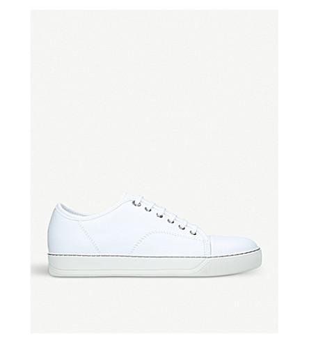 LANVIN Basket leather low-top trainers (White