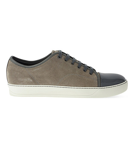 LANVIN Low-top basket trainers (Grey