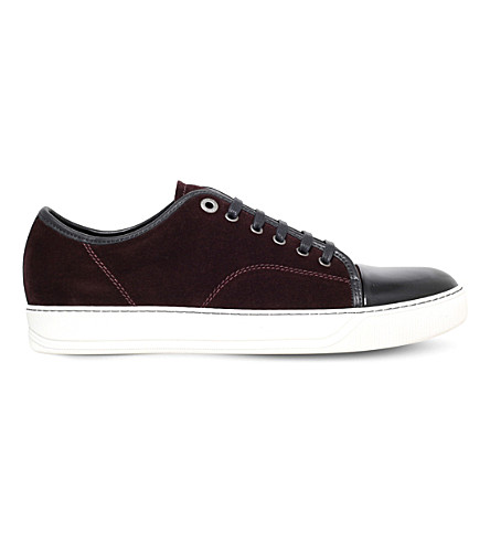 LANVIN Low-top basket trainers (Wine