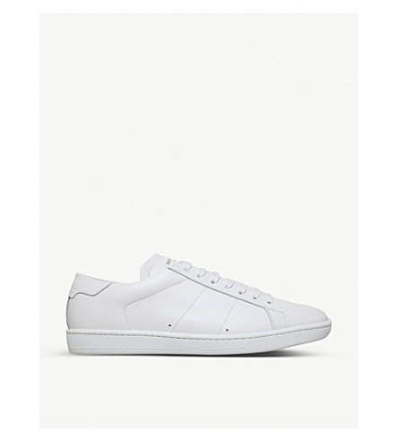SAINT LAURENT Sl01 low-top leather sneakers (White