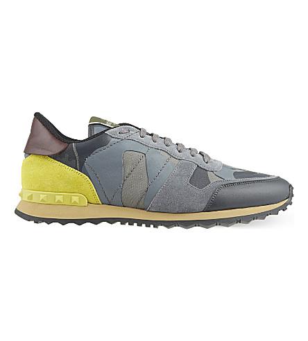 VALENTINO Camo-print sneakers (Grey