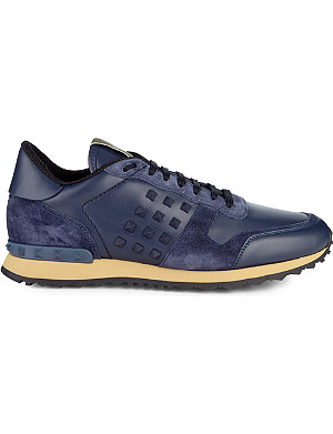VALENTINO Studded leather trainers