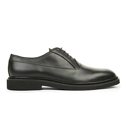 maison margiela micro leather oxford shoes selfridges
