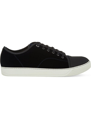 LANVIN Velvet low-top trainers