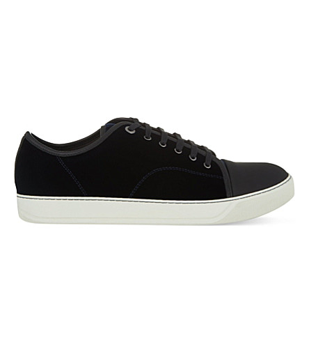 LANVIN Velvet low-top trainers (Navy