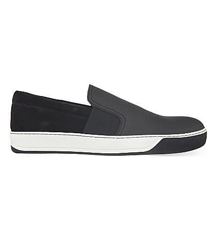 LANVIN Grainy skate skate (Black