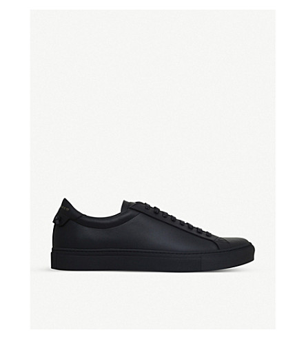 GIVENCHY Knot leather trainers (Black/comb