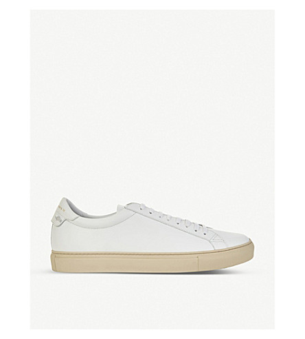 GIVENCHY Knot leather lace-up trainers (White