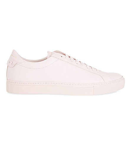 GIVENCHY Knot leather trainers (Pale+pink