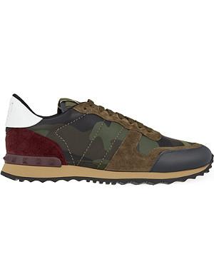 VALENTINO Dove camo-print leather trainers