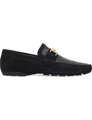 VERSACE Greco Medusa driving shoes