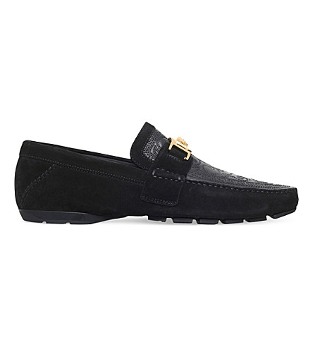VERSACE Greco Medusa driving shoes (Black