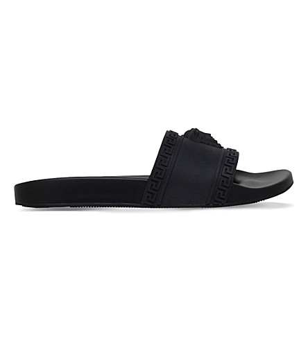 VERSACE Medusa rubber sliders (Black