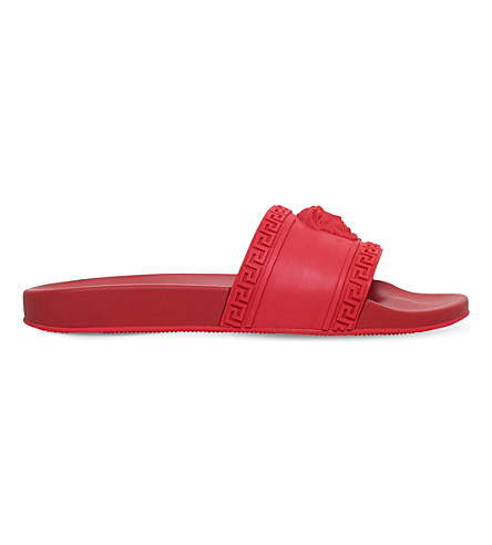 VERSACE Medusa slide sandals (Red