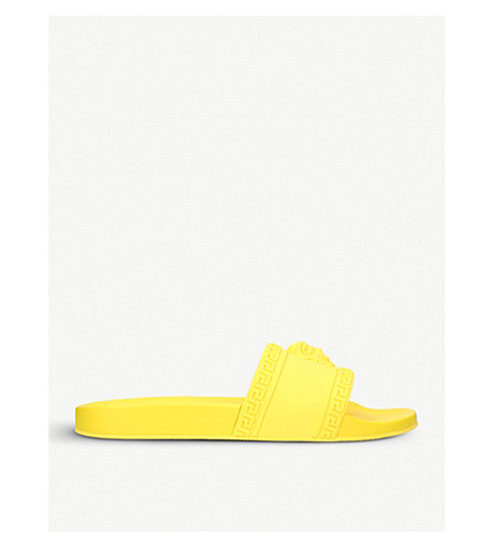 VERSACE Medusa rubber sliders (Yellow